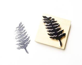 Fern stamp, fern print, fern plant, fern rubber stamp, botanical art, botanic stamp, plant stamp, fern art, woodsy, plants are friends