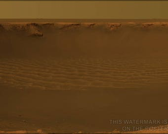 Poster, Many Sizes Available; Victoria Crater Mars Rover Opportunity