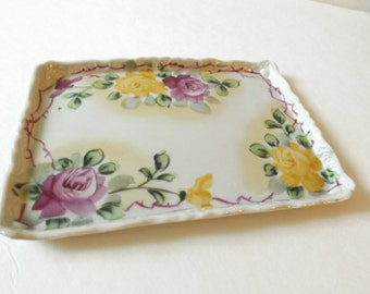 Mother's Day, Gift for momCeramic Floral Tray - Made in Japan