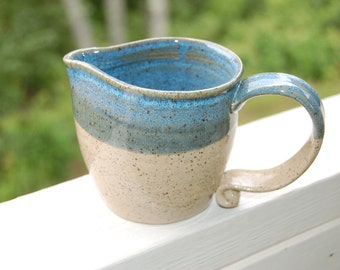 Sale-Handmade Pottery Beach House Pitcher