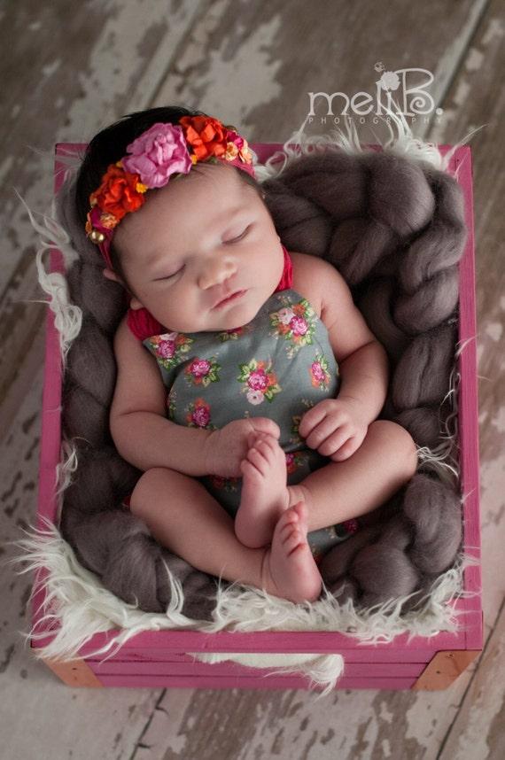 Veda Newborn Romper and Headband