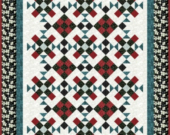 Quilt Pattern -  Lofty Dreams - Throw - Lap Quilt - Confident Beginner -Hard Copy Version - FREE SHIPPING!!