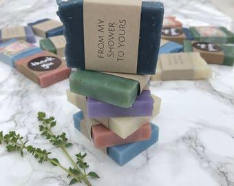 40 Mini Soap Baby shower favor- Blue baby boy shower - Pink baby girl shower - Bridal Shower favor soap - Party soap Favors - Wedding favor