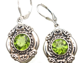 Peridot Earrings Handmade bali jewlery august birthstone
