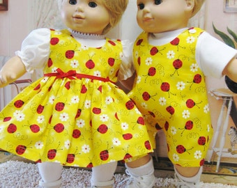 Red Ladybug Outfits for Bitty Baby Girl OR Boy OR Twins