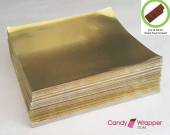 FOOD GRADE Silver or Gold Candy Bar Foil - Pack of 1000