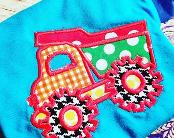 Dump truck embroidery