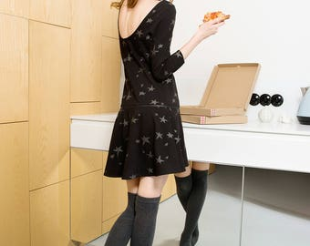 Star print modular dress (limited evening collection)