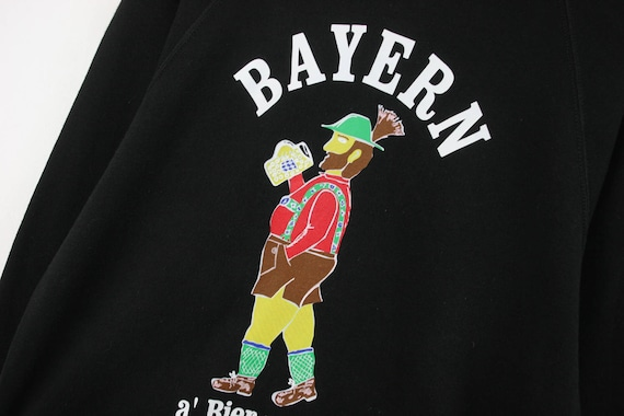 VTG — BAYERN FCB — Raglan Sweatshirt Jumper Pullover Blouse Beer Culture — Large L — Rare European Vintage Fashion 古着 Sportswear Streetwear DtDYi2CW0