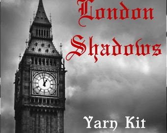 London Shadows MKAL Yarn Kit with Beads, Stitch Markers and your choice of colors