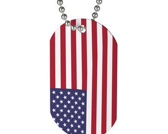 Dog Tag United States Flag