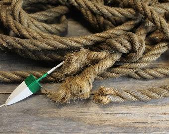 Vintage Three-Strand Twisted Hemp Nautical Rope 34 Feet
