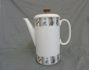 """alfred clough """"west country"""" coffee pot"""