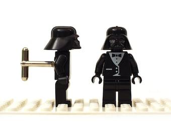 Space Sci fi themed cufflinks. Tux Cufflinks made with LEGO(R) bricks. Cuff links Cufflink Wedding gift