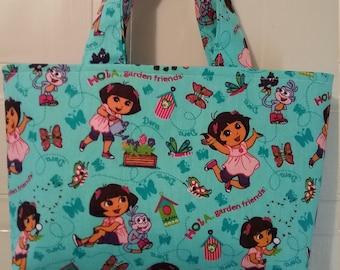 RTS Dora The Explorer Inspired Garden Friends Tote Bag
