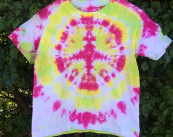 Peace love and freedom children's tie dye