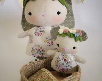 Doll, little doll, tilda doll, rag doll, soft doll, handmade doll, heirloom doll, bunny doll, fabric doll, tilda fabric, dolls for kids