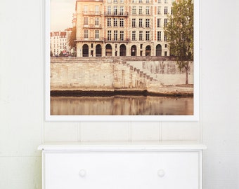 "Paris Photography // Paris Bedroom Decor // Paris Prints // Travel Photography // Square Format Paris Prints // Europe  - ""Paris Seine"""