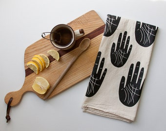 Wise Palm tea towel