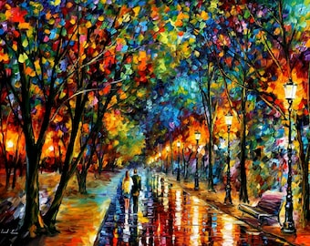 Large Wall Art Landscape Oil Painting On Canvas By Leonid Afremov — When Dreams Come True