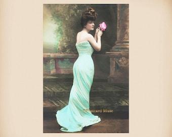 Elegant Gibson Girl New 4x6 Vintage Postcard Image Photo Print LE82