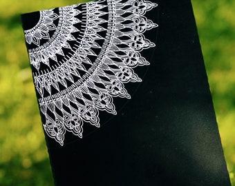 Silver Mandala Moleskine Notebook