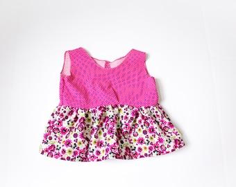 Girls sizes 6-10 Gathered Peplum Shirt sewing pattern DIGITAL DOWNLOAD