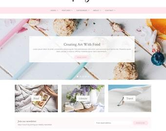 Poise - WordPress Theme - WordPress Blog Theme - Feminine WordPress theme - Responsive WordPress theme - WordPress Template