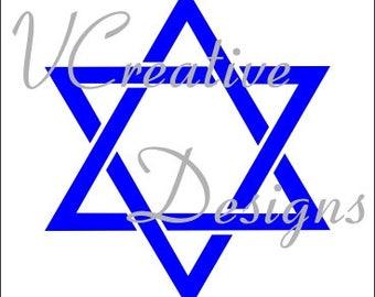 581 Star of David stencil