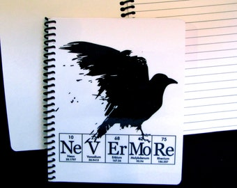 Raven Nevermore Journal Notebook ElementeesTM for the nerd in you