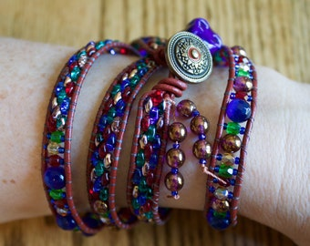 Handmade Beaded Wrap-Around Bracelet