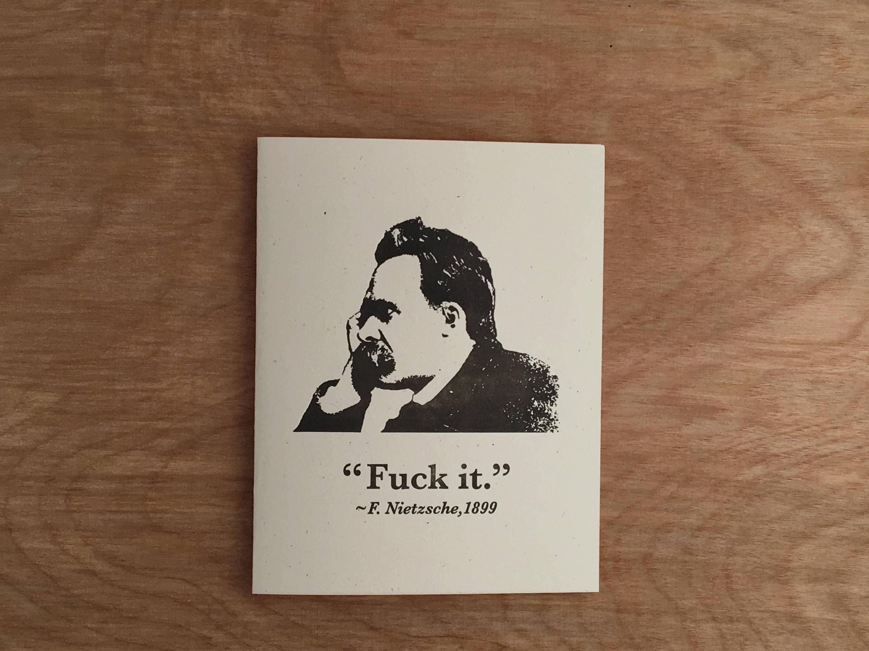 Nietzsche funny letterpress greeting card mature philosophy zoom kristyandbryce Gallery