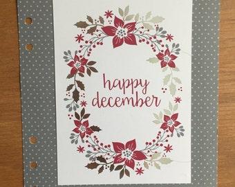 Hello December A5 Dashboard