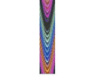 BPRA0007 Even Count Single Drop Peyote Cuff/Bracelet Pattern