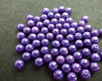 Vintage Fossil 6mm Imperial Purple Rounds