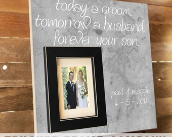 In-Laws Gift, Parents of the Groom Gift, Personalized Picture Frame, Parents Thank You Gift,  Father of the Bride Custom Frames 16 x 16