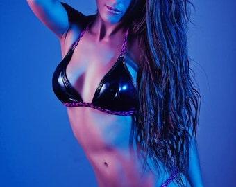 Latex kitty bikini