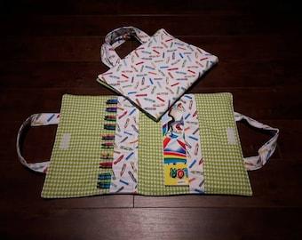 Coloring book travel bag