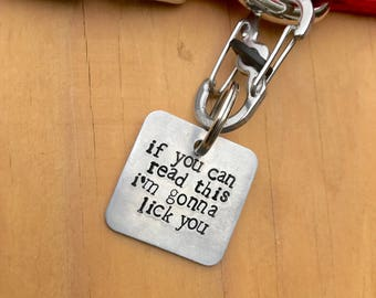 Dog Kisses Tag · Pet ID tag · Pet Tag · Dog Tag · Hand Stamped Tag · Custom Pet ID · Personalized Pet Tag · Love Violet