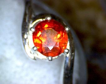 Stunning Color Change Spessartite Garnet Ring