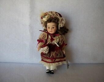 Geppeddo Porcelain Doll - Item No. 06C904 - Vintage Porcelain Doll - Vintage Geppeddo Doll - Collector's Porcelain Doll - Geppeddo Doll