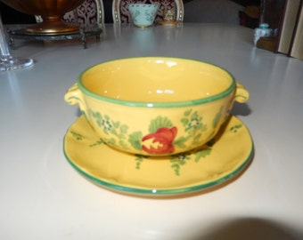 ITALY IMOLA SOUP Bowl and Saucer