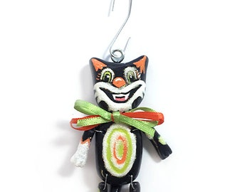 Scaredy Cat:  Sebastian (Ornament) - CAN BE PERSONALIZED w/ Add-On Option
