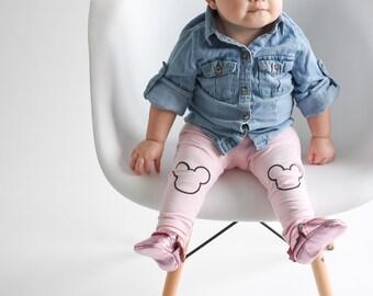 Mickey Mouse Hand Painted Childrens Leggings Custom Toddler Leggings Womens Leggings
