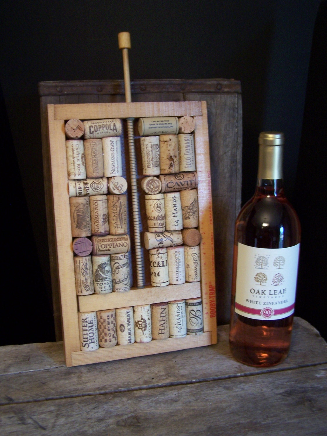 zoom Unique Wine Cork Wall Art Table
