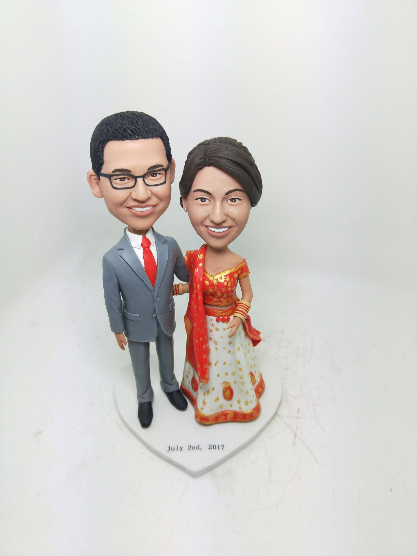 Custom Indian Bride Personalized Wedding Cake Topper Indian