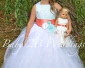 Aqua Flower Girl Dress wi...
