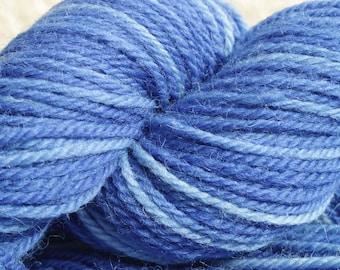 Bristol Blue - Hand Dyed British Wool- Aran weight yarn