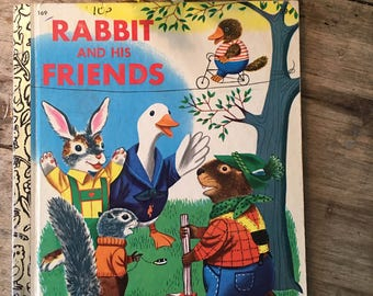 Rabbit and friends, Easter Bunny, Bunny book, little golden, 1970s book, Richard Scarry, collectible book,