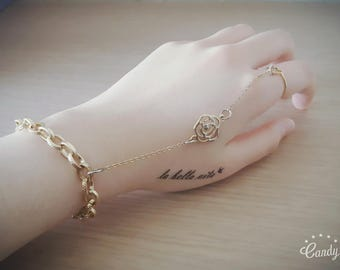 Metal Chain Slave Bracelet with Ring